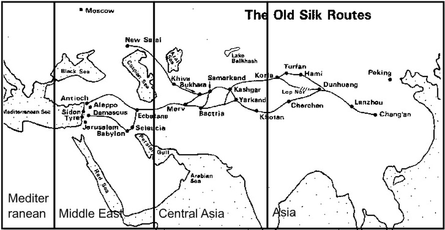 graphic relating to Silk Road Map Printable named China Silk Street Match - HISTORYS HISTORIESYou are